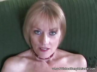Femdom milf tied cock - Blonde milf tied by her lover and blow his cock