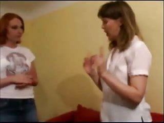 Milf being spanked Naughty girl humiliated for being a bully