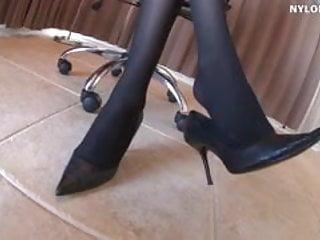 Bbw foot worship video Stockings foot worship stockings footjob