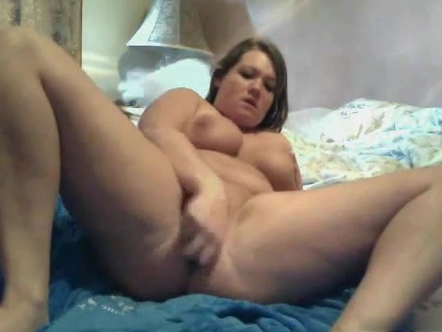 Yummy Fat BBW masturbating her delicious shaven wet pussy