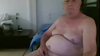 Bulgarian Old Bue Jerk off with no fun