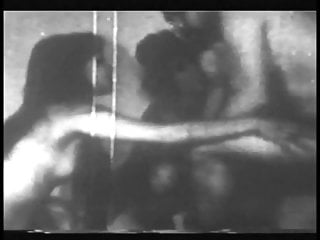 Big black sex woman - Grainy black and white footage of woman with nice boobs fucking and sucking