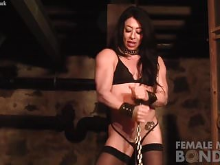 Big bondage woman Carmin blue finds herself in another bind
