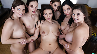 Czech VR 386 - Fucking Six Horny Babes in POV!