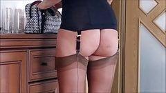 Do you like my ff n nylon stockings and corset?