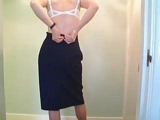 Sexy lady undressing Mature leggy lady undresses