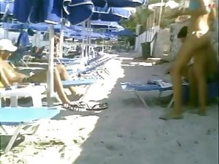 Beach milfs video clips - Greek asses on the beach the clip