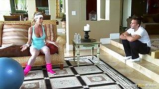 Brazzers -Horny big-tit yoga MILF Brandi Love takes big-dick