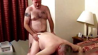 Two hot stepdaddies in bedroom