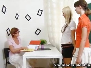 Older lesbian bdsm keez - Marisa and her friend have a lesson with older lesbian teach