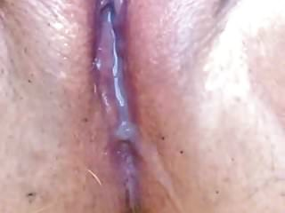 Pushing stones out her ass movies My wife pushing cum out of her pussy