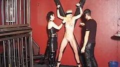Mistress enjoys spanking her slave
