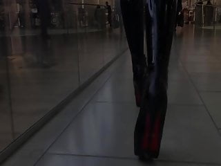 Latex partial derivatives - Ublic walking in latex and heels latex mall