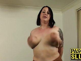Mature choke fuck - Anally slammed mature slut choked and slapped by master