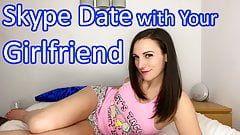 Skype Date with Your Girlfriend Clara Dee - JOI Game