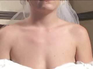 Lesbian satin fetish - Fetish bride in satin wedding dress gets a hard rough dp
