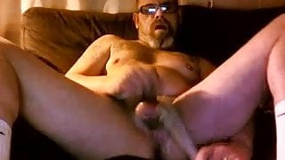 Playing my little fag dick in livingroom