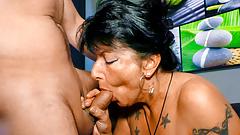LETSDOEIT - Horny Germany Granny Loves Fucking on the Couch