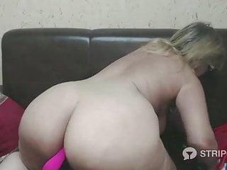 Dildo in big ass Granny webcam dildo in big ass