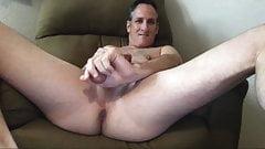 slutty dad showing off on cam