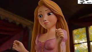 Rapunzel footjob