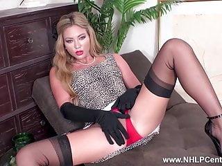Date corset vintage Gorgeous blonde masturbates in vintage nylons corset heels