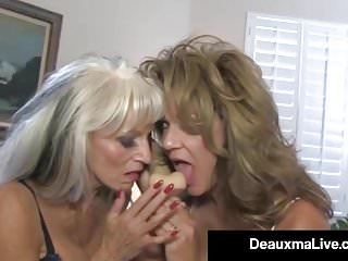 Deauxma interracial video Texas cougar deauxma watches as sally dangelo bangs hubby