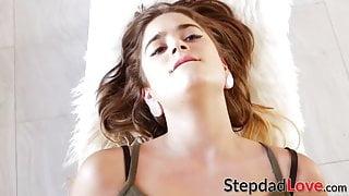 Adorable stepdaughter Pamela Morrison pounded after blowjob