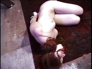 Gay camp ground pa Redhead with nice naturals bound gagged, lying on the ground