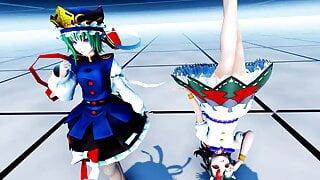 MMD Touhou - Eikishiki & Seija (Futa) - Dance & Sex
