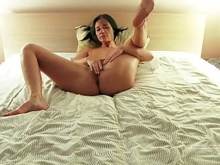 Man breast video - Mature with hairy pussy and big breasts orgasms
