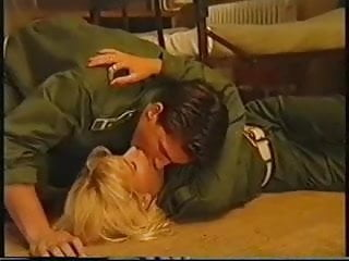 Busty army blonde Anita blond in the army