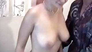 French guy getting his dick sucked in public by a slut