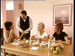 Upskirt french French dinner party turned orgy