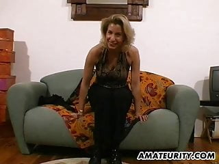 Milf handjobs with cum Amateur milf toys and strokes a dick with cum on tits