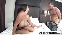 Alison hires a friend for the evening who gives her a good