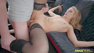 Fake Taxi, Caty Kiss Wants to Pay with Sexy Topless Selfies