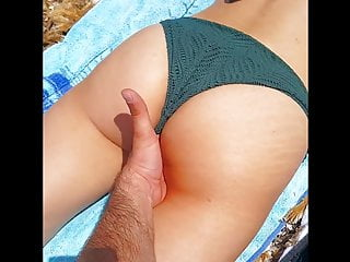 Jessica bikini photos - Public beach masturbation jessicas ass