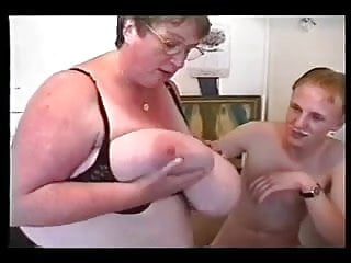 Mature moms young men Bbw mature with two young men