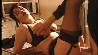 Elodie Cherie Assfucked In Black Stockings