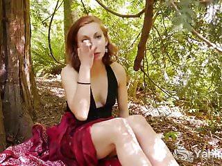 Cunny spunk - Yanks redhead anja fingers her cunny