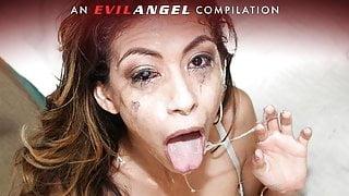EvilAngel - The SLOPPIEST Blowjobs & Face Fucks Compilation