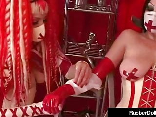 Masturbate tools Crazy klinic with rubberdoll - succubus dental sex tools
