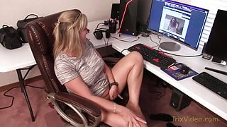 Mommy Step Son Caught at the Office