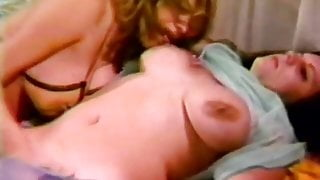 Chesty Lesbians Rubbing and Licking Hairy Cunts (Vintage)