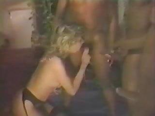 Assfucked black slut - French blonde slut assfucked by 3 blacks