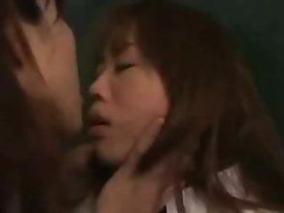 Lesbian ladies kissing Japanese ladies kiss and lick faces