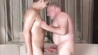 Old grandpa dirty fuck young boy