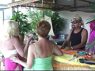 Mature drunk moms Three drunk grannys at the bar