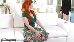 GIRLSWAY Sexy Redhead Penny Pax Tastes The Cheating Neighbor
